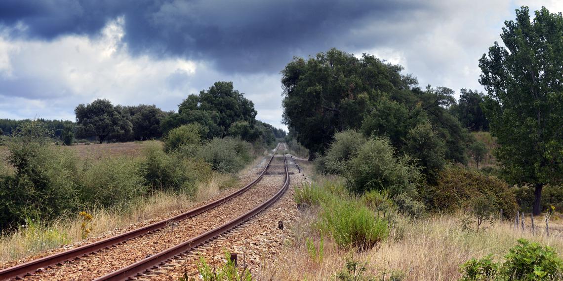Linha de caminho de ferro (Aldeia da Mata)