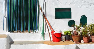 Entrada de uma casa nos limites de Portugal
