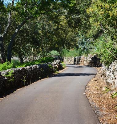 Estrada no limite de Portugal