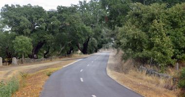 Estrada perto de Póvoa e Meadas