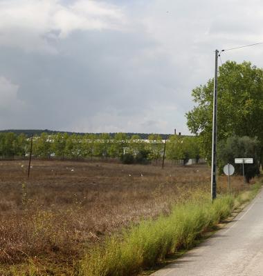 Cemitério e estrada para o Cano